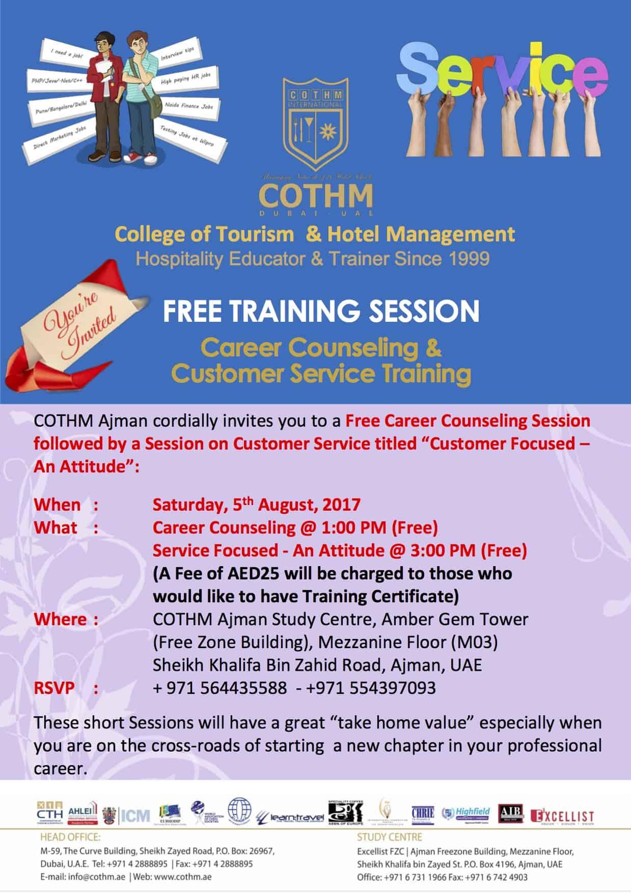 Free Training Workshop | Customer Service » COTHM Dubai