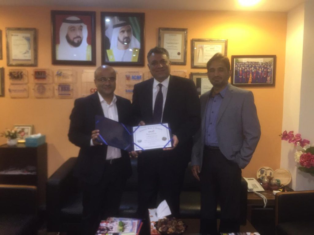 Congratulations to Mr. Mohammad Rizwan Butt , GM Pear City Suite Hotel Apartment Dubai