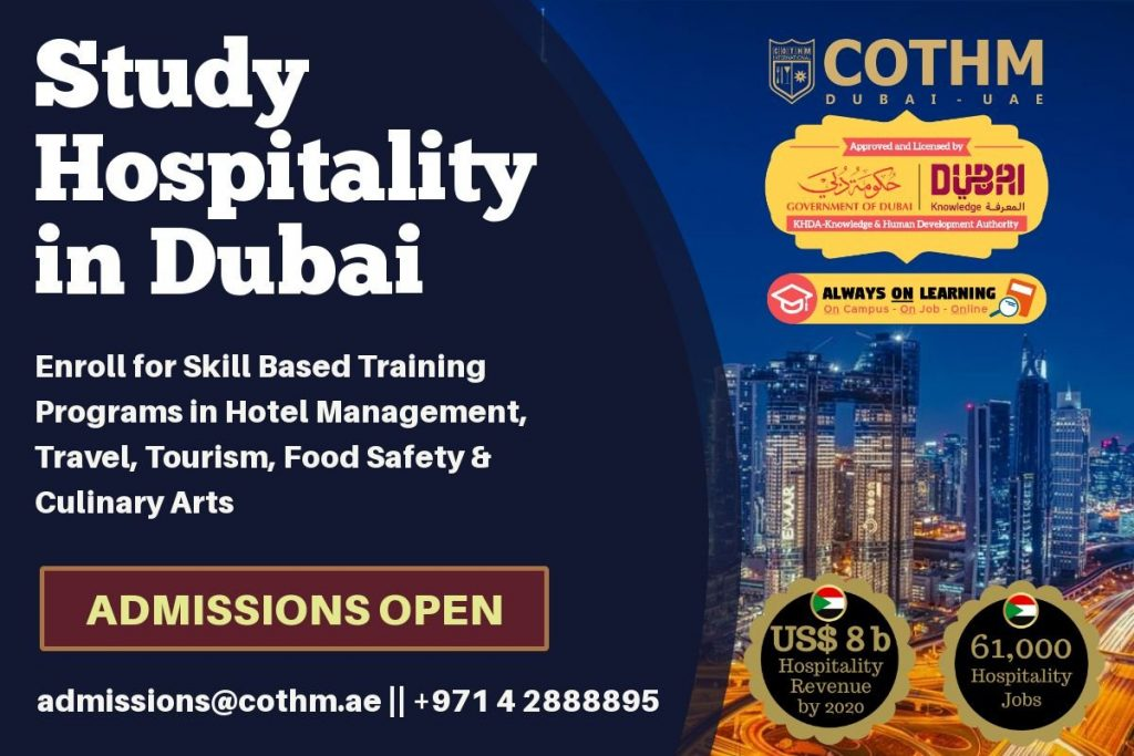 COTHM Dubai Is Now KHDA's Approved Training Center